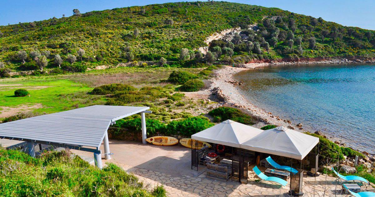 Activités nautiques et plage privée à la Villa M à Lipsi