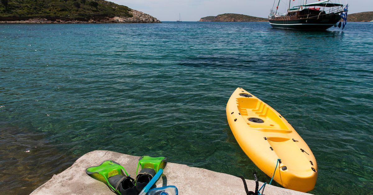 Kayak et plongée à la Villa M à Lipsi, location de vacances
