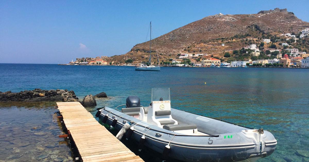 Visiter l'île en naviguant, la Villa M, Lipsi