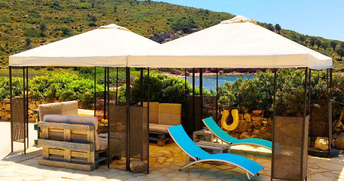 Votre plage privée à la Villa M, maison de vacances à Lipsi