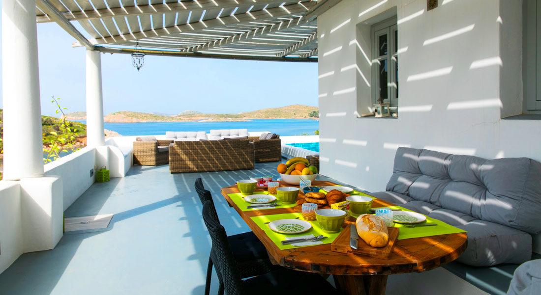 Lipsi, Location de vacances en famille, maison avec vue sur la mer