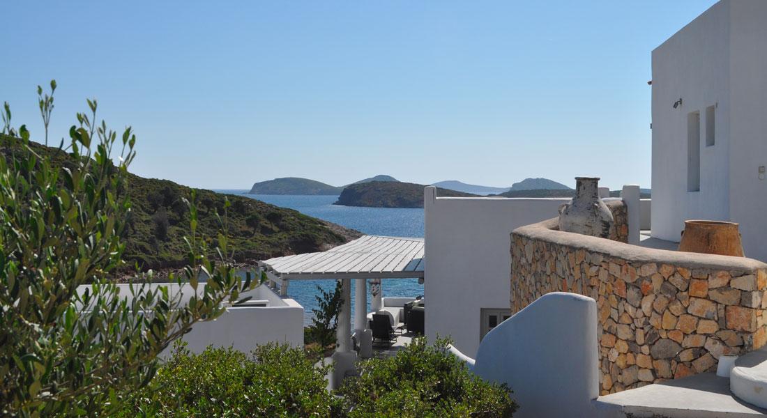 La Villa M, une maison de vacances à Lipsi. Location logement entier.
