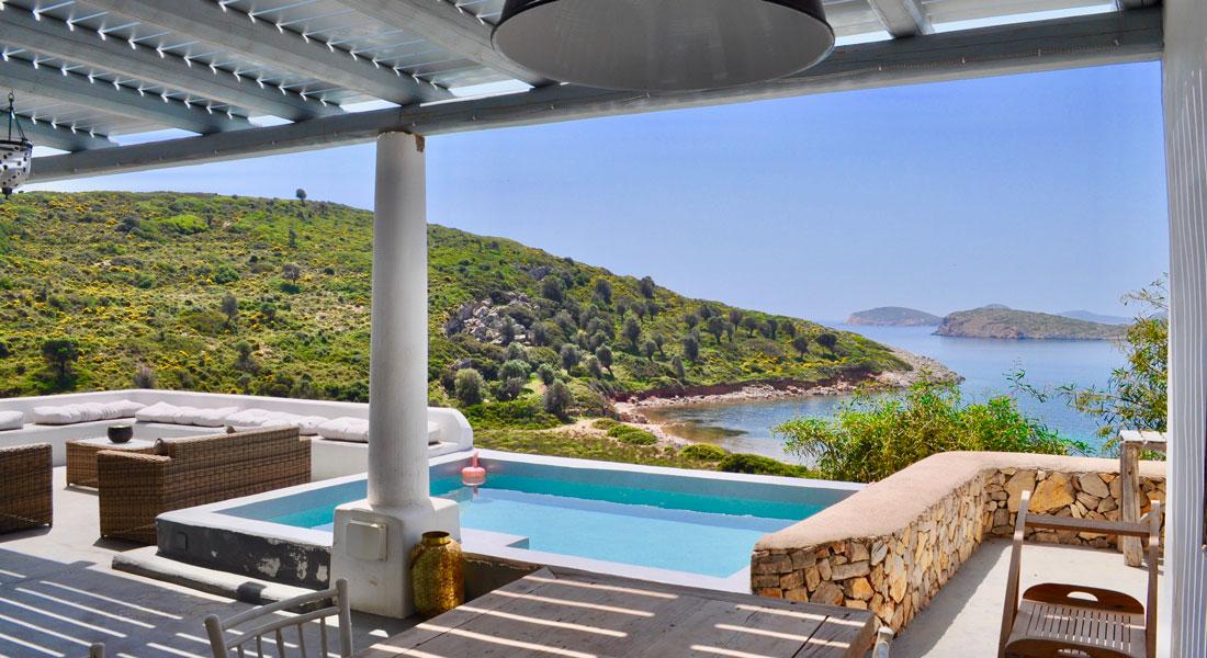 Lipsi, Location de vacances, maison avec vue sur la mer - La Villa M