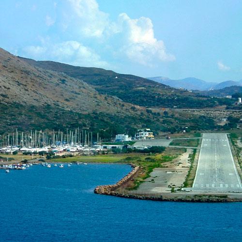 Aéroport de Lipsi pour venir à la Villa M