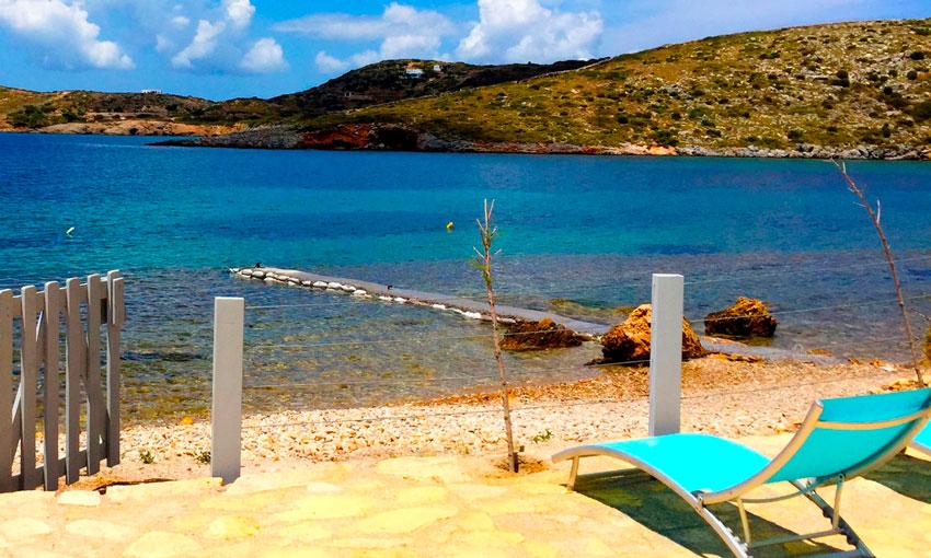 Location de vacances Lipsi - Maison avec vue sur la mer et plage privée - La Villa M
