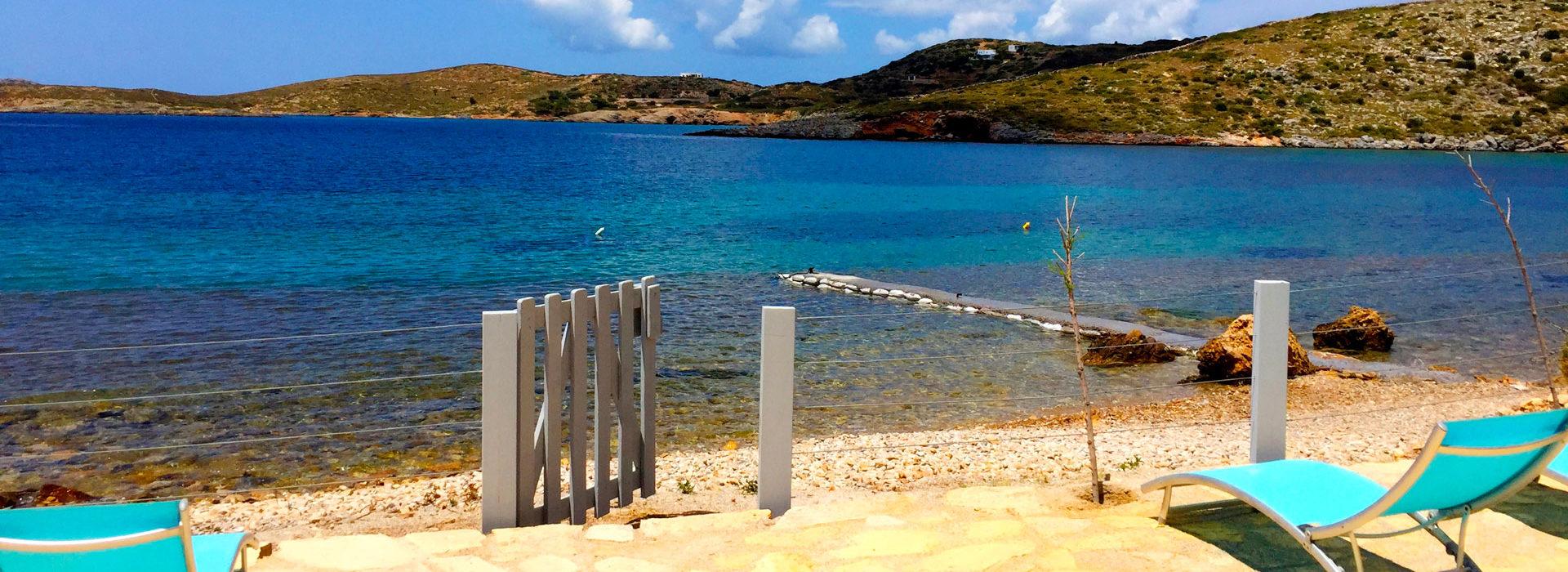 Lipsi, Location de vacances, maison avec plage privée