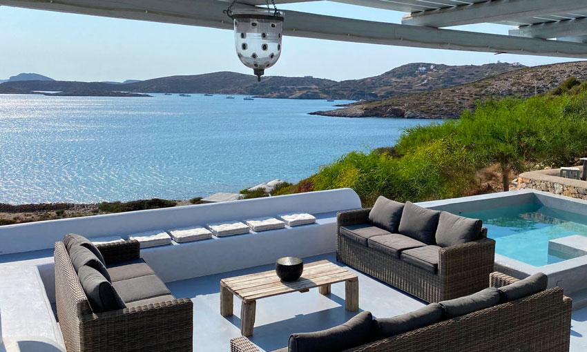 Location de vacances Lipsi - Maison avec vue sur la mer, piscine et plage - La Villa M